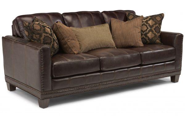 Large image of Flexsteel Port Royal Leather Sofa - 1373-31-671-70