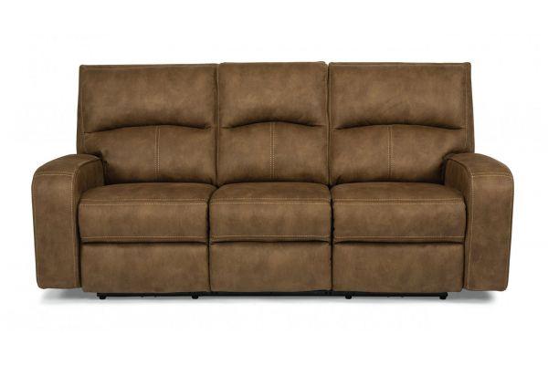 Large image of Flexsteel Nirvana Saddle Fabric Power Reclining Sofa With Power Headrests - 1650-62PH-136-72