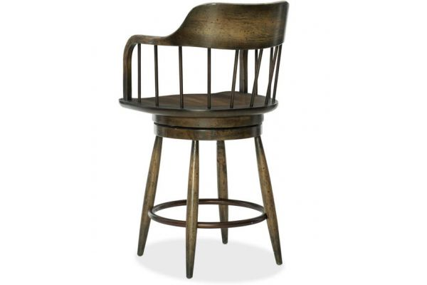 Hooker Furniture Dining Room Crafted Counter Stool - 1654-25350-DKW1