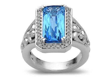 Charles Krypell Eve Blue Topaz Sterling Silver Ring - 36955ECBTD