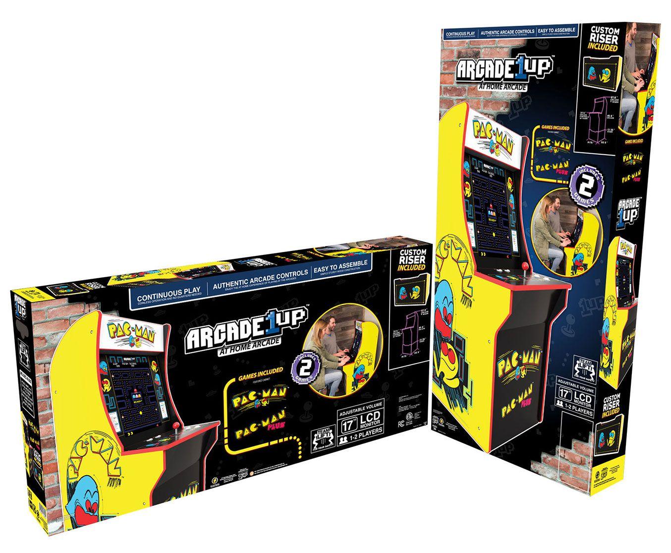 Arcade1Up Pac-Man Arcade Cabinet With Riser