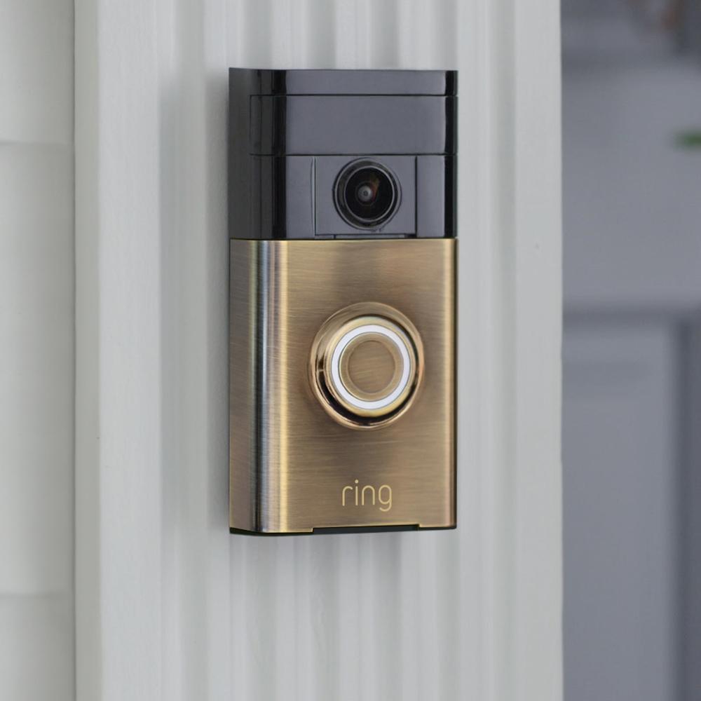 ring antique brass video doorbell 88rg003fc000. Black Bedroom Furniture Sets. Home Design Ideas
