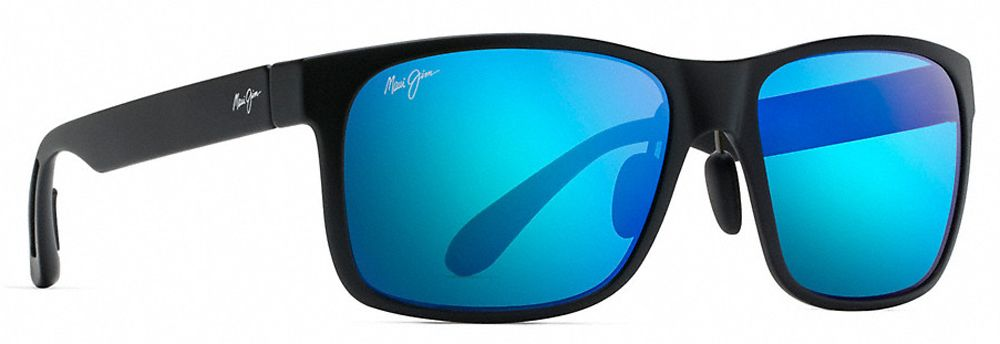 6229d071bef5 Maui Jim Red Sands Matte Black Blue Hawaii Unisex Sunglasses - B432-2M. Maui  Jim B432-2M - 1