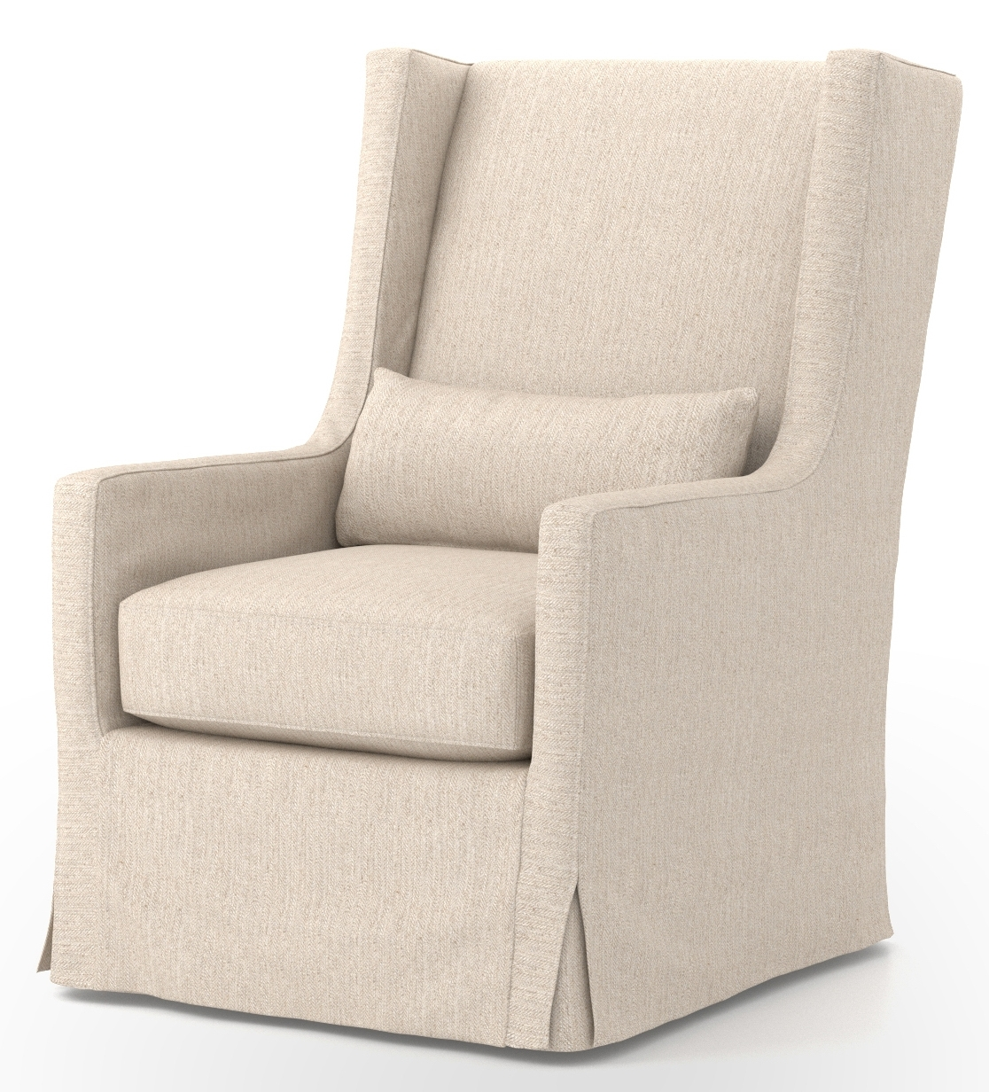 Four Hands Jette Linen Swivel Wing Chair Cken C2 362