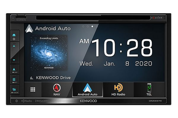 "Large image of Kenwood eXcelon 6.8"" Navigation DVD Receiver With Bluetooth & HD Radio - DNX-697S"