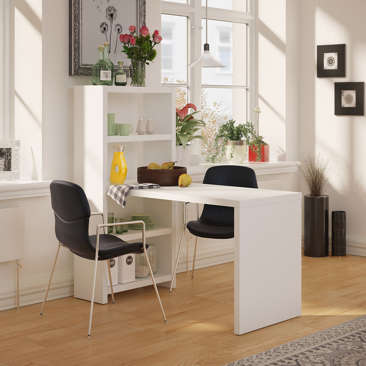 Office By Kathy Ireland Echo 56W Dining Table In Pure