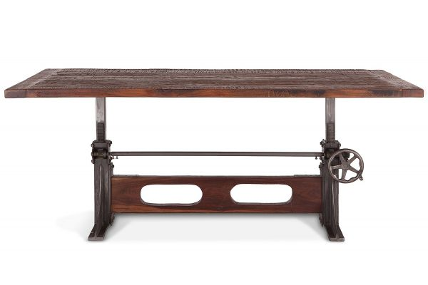 "Large image of Home Trends & Design Manchester Walnut 84"" Dining Table - FMT-DT84"