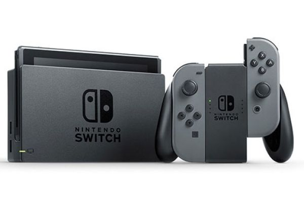 Large image of Nintendo Switch Gaming Console With Gray Joy-Con Controllers - HADSKAAAA