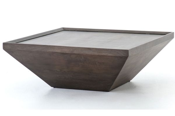 Large image of Four Hands Harmon Collection Coal Grey Drake Coffee Table - IHRM-047A