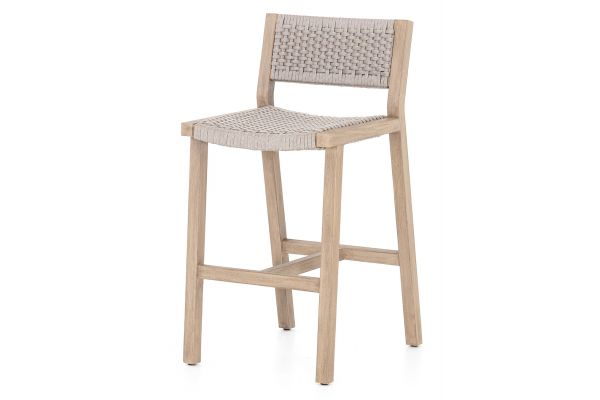 Large image of Four Hands Solano Collection Brown Delano Outdoor Bar Stool - JSOL-022