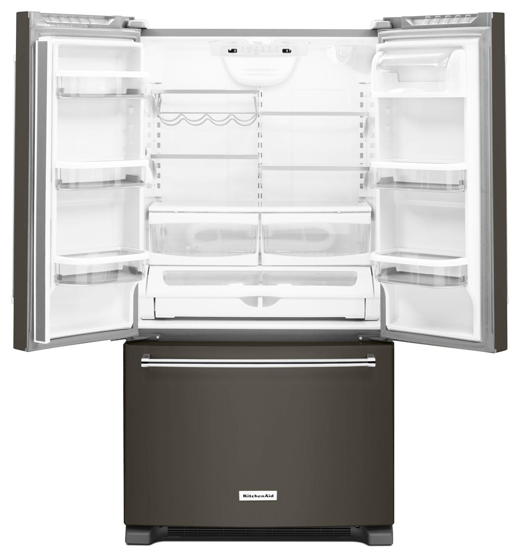 KitchenAid Black Stainless Refrigerator KRFC300EBS