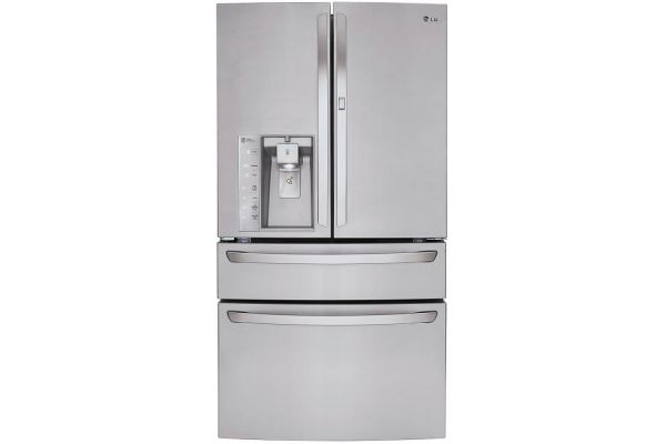 LG 30 Cu. Ft. Stainless Steel 4-Door French Door Bottom Freezer Refrigerator - LMXS30776S