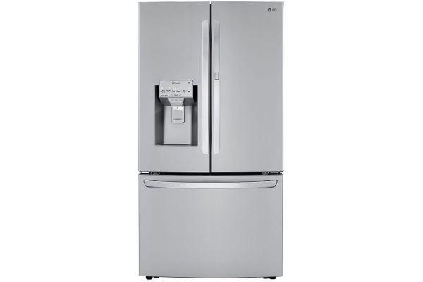 LG PrintProof Stainless Steel 30 Cu. Ft. Smart Wi-Fi Enabled Door-In-Door Refrigerator With Craft Ice Maker - LRFDS3016S