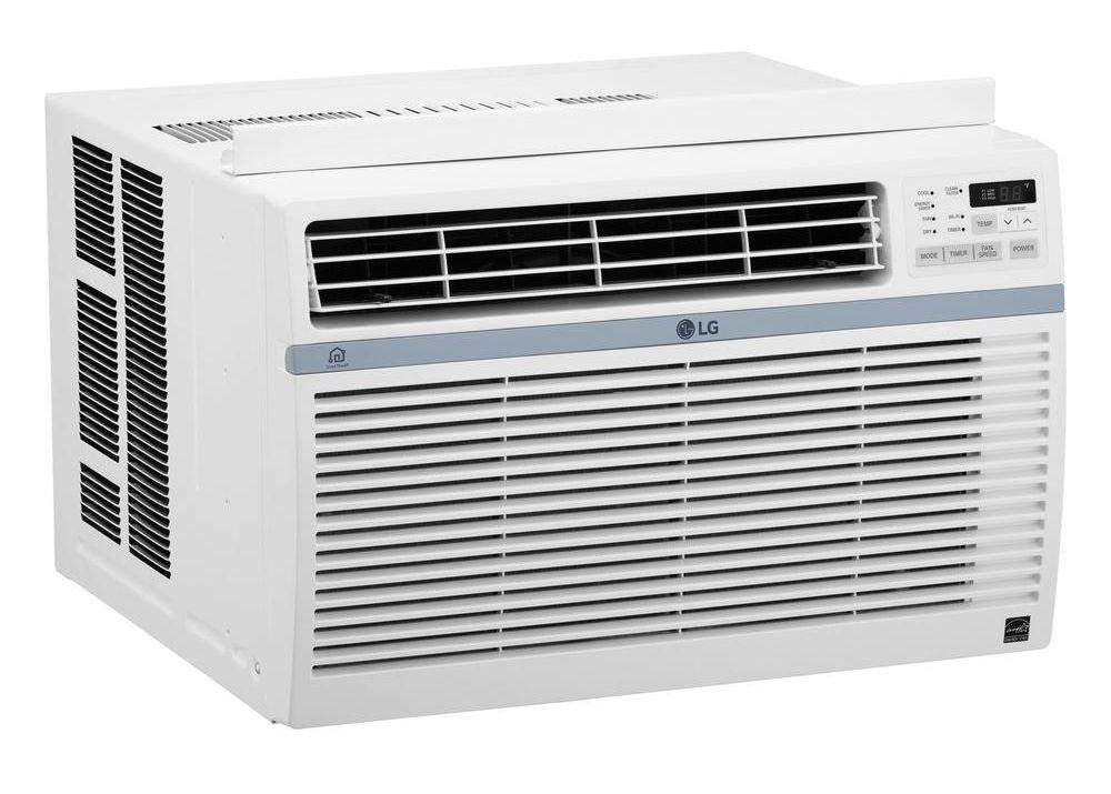 lg 8 000 btu 12 1 eer window air conditioner lw8017ersm. Black Bedroom Furniture Sets. Home Design Ideas