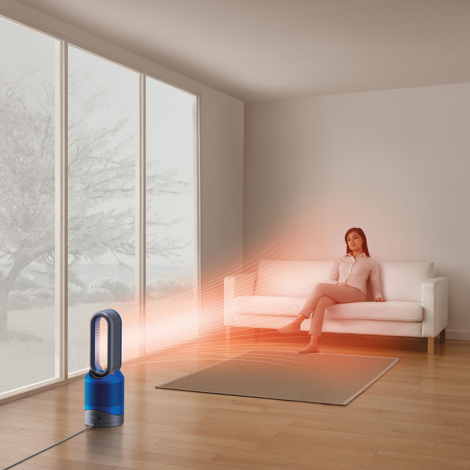 dyson pure hot cool link blue air purifier n455blue. Black Bedroom Furniture Sets. Home Design Ideas