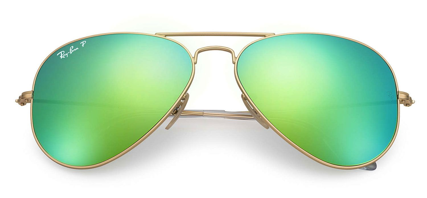 ... Gold Green Flash Unisex Sunglasses - RB3025112P958 · Ray-Ban  RB3025112P958 - 1 957409a05bd3f