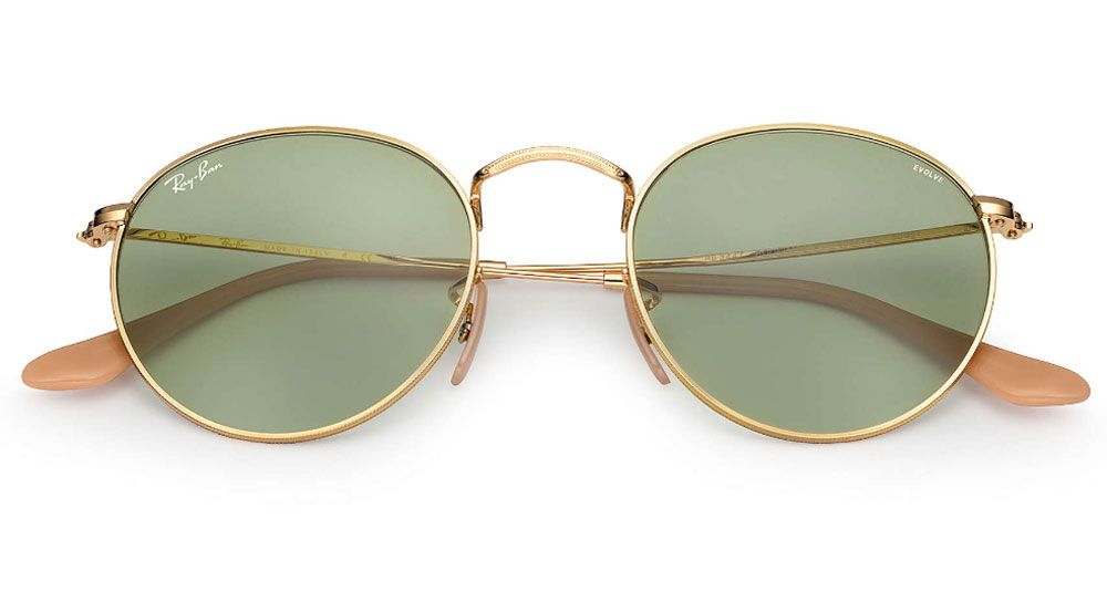 9e30a27bc9 ... Round Evolve Gold 53mm Unisex Sunglasses - RB3447 90644C 53 · Ray-Ban  RB3447 90644C 53 - 1