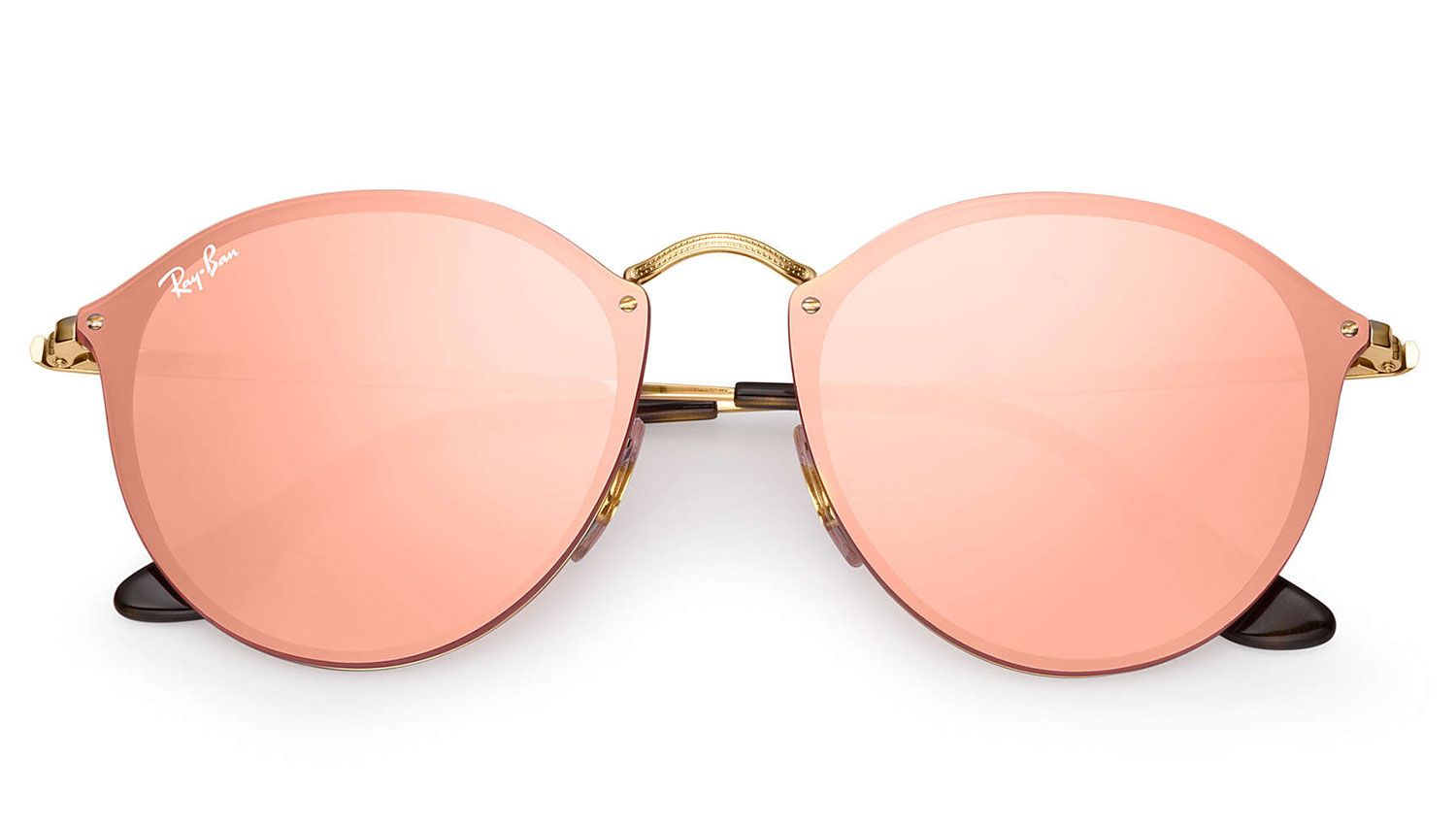 862a5356eb Ray-Ban Blaze Round Pink Mirror Womens Sunglasses - RB3574N 001 E4 59