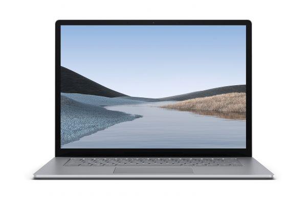 "Large image of Microsoft Surface Laptop 3 15"" Platinum Laptop AMD Ryzen 5 3580U 8GB RAM 256GB SSD, AMD Radeon Vega 9 Graphics - VGZ-00001"
