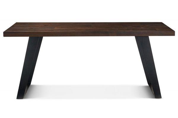 "Large image of Home Trends & Design Urban Loft 78"" Dark Brown Dining Table - VUL-DT78"