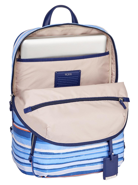 Tumi Voyageur Halle Backpack 484758 Moroccan Blue Stripe