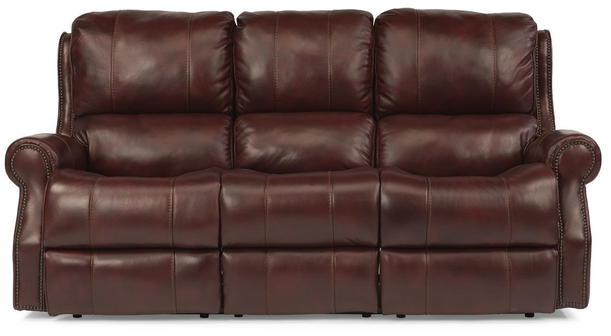 Flexsteel Miles Leather Reclining Sofa 153362p41862