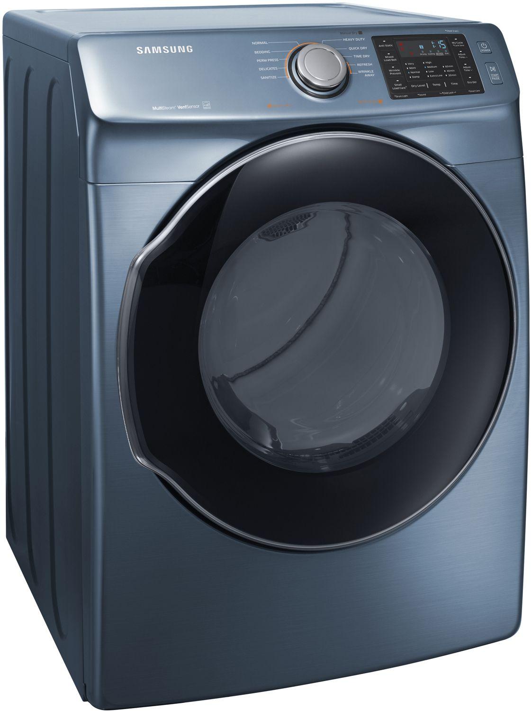 samsung azure blue gas steam dryer dvg45m5500z. Black Bedroom Furniture Sets. Home Design Ideas