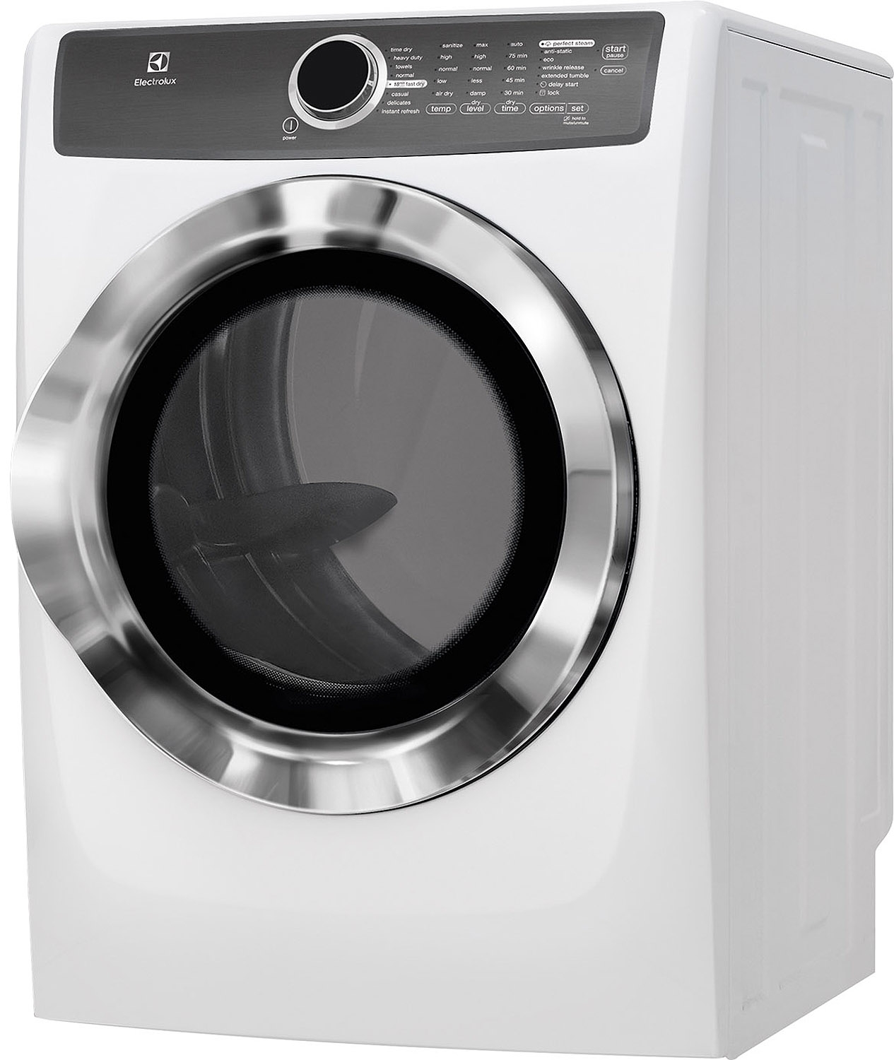Electrolux island white electric steam dryer efme517siw main image 1 sciox Choice Image