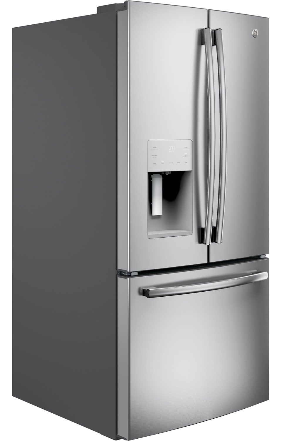 Ge 238 cu ft french door refrigerator gfe24jskss main image 1 rubansaba