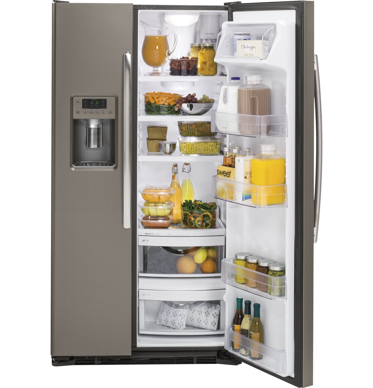 Ge 30 inch side by side white refrigerator - Main Image 1