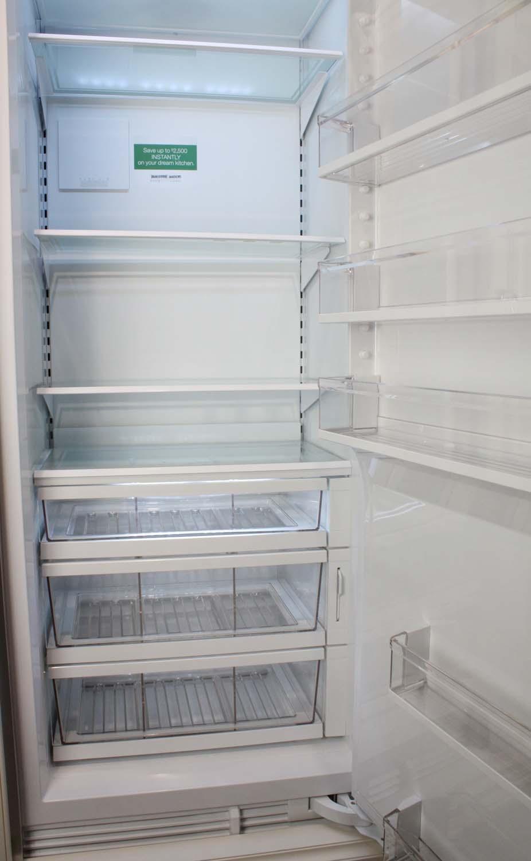 Sub Zero 30 Integrated Panel Ready All Refrigerator Column Ic30rrh Interior