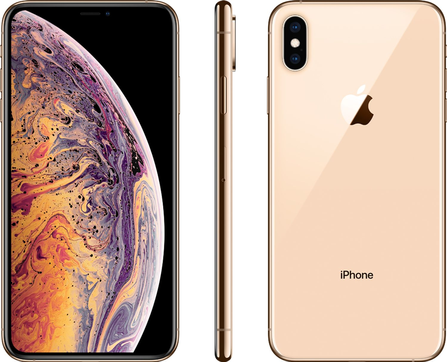 best service a3aee 41b38 Apple 256GB Gold iPhone XS Max Cellular Phone