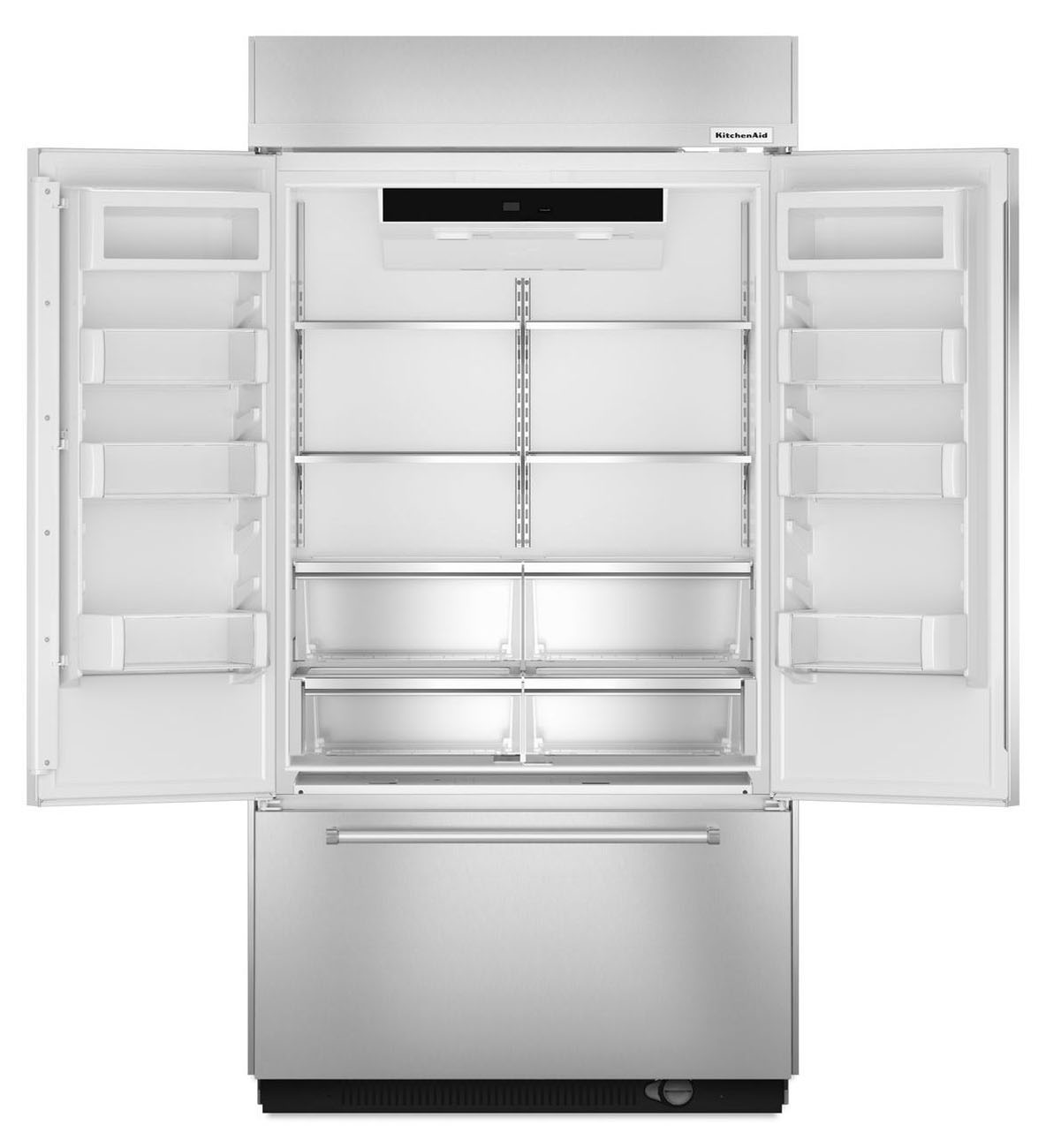 Kitchenaid Refrigerator White Kitchenaid Builtin French Door Refrigerator  Kbfn402Ess