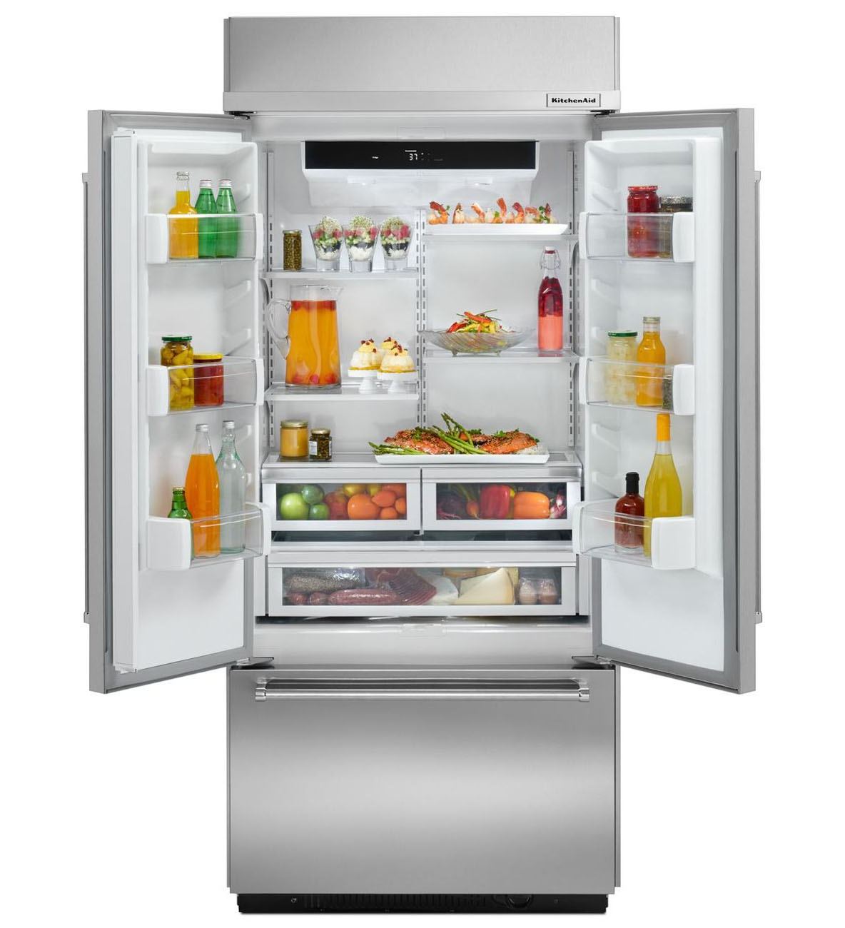 KitchenAid Built-In Stainless Refrigerator - KBFN406ESS