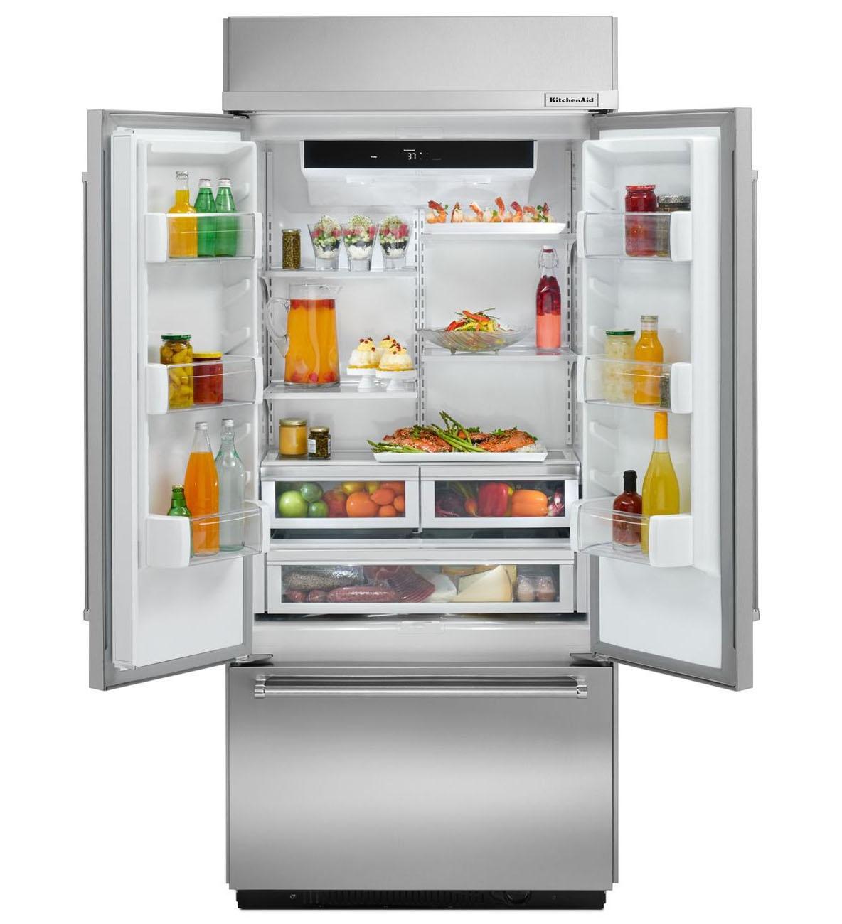 KitchenAid Built-In Stainless Refrigerator - KBFN406ESS