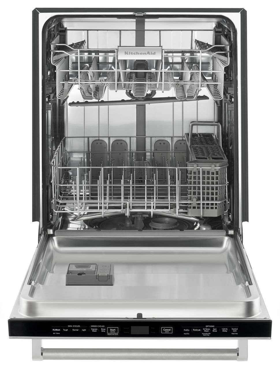 How To Clean The Inside Of A Stainless Steel Dishwasher Kitchenaid Stainless Steel Dishwasher Kdtm354ess