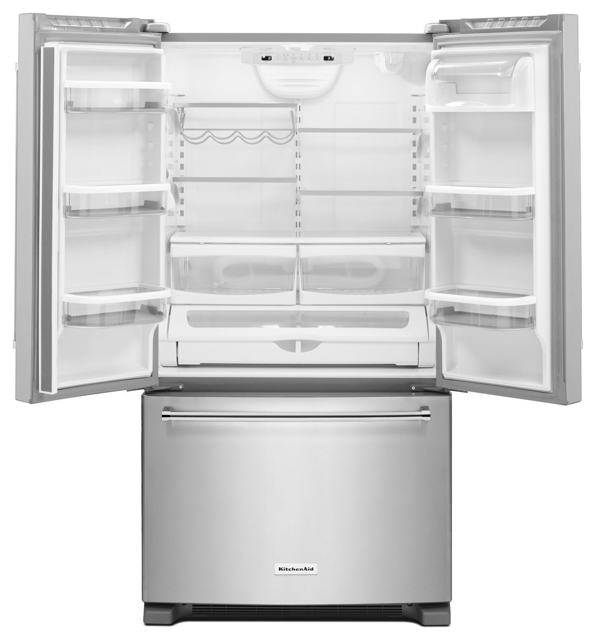White Kitchenaid kitchenaid white french door refrigerator - krfc300ewh