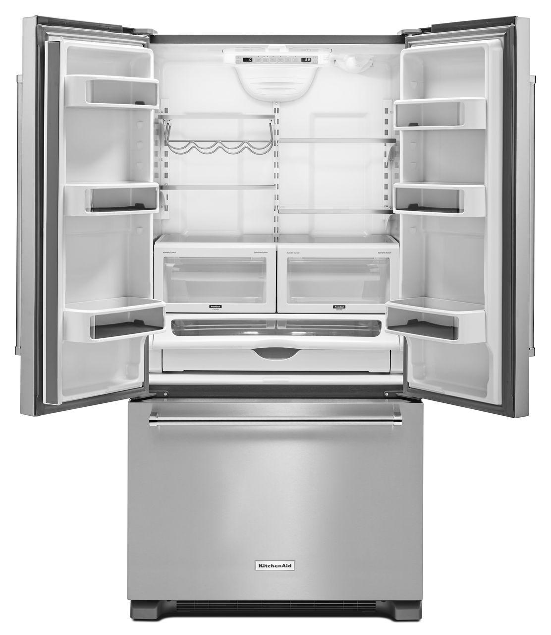 Kitchenaid Refrigerator White kitchenaid stainless french door refrigerator- krfc302ess