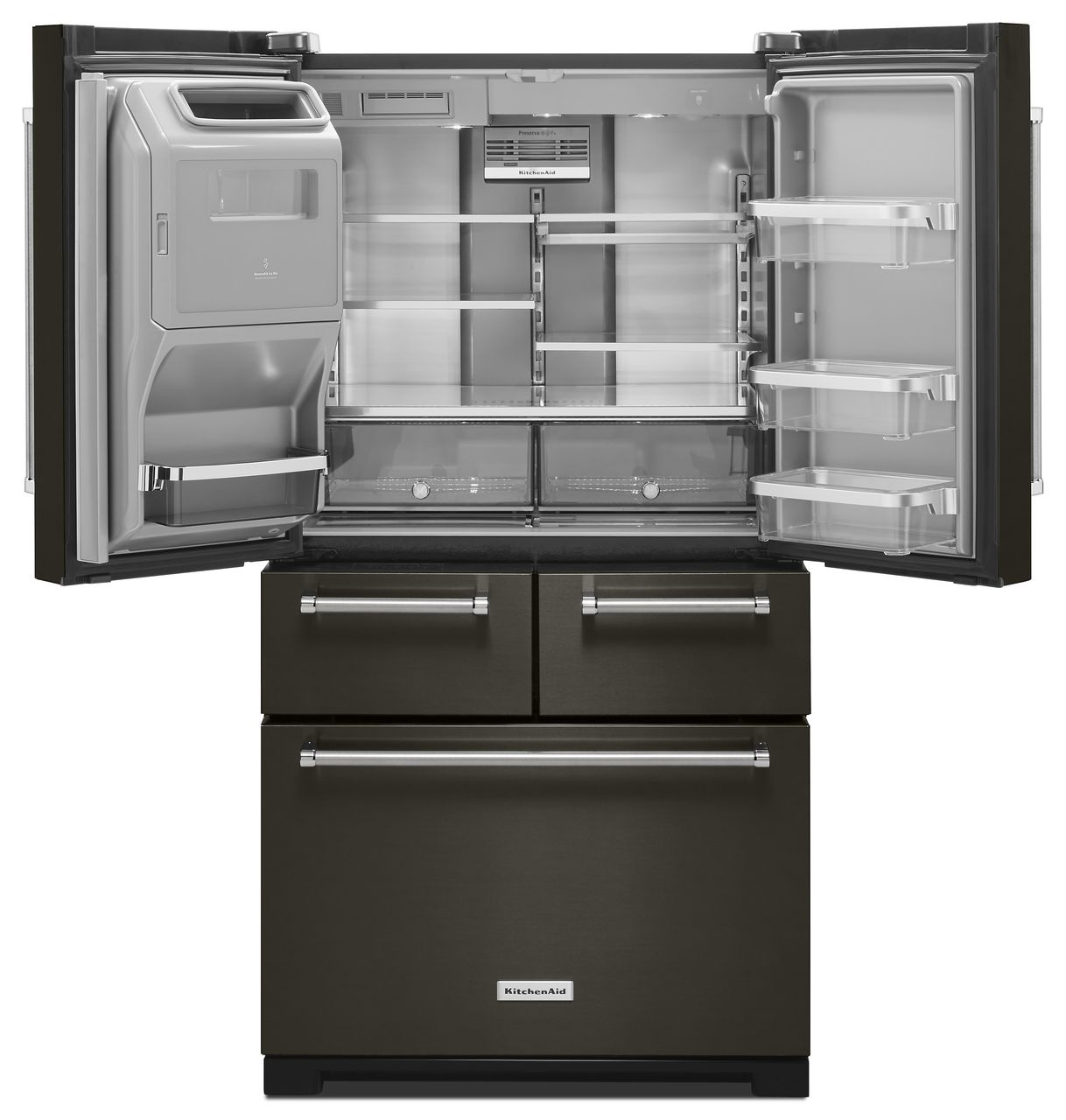 Kitchenaid Appliances Black Stainless kitchenaid black stainless refrigerator - krmf706e