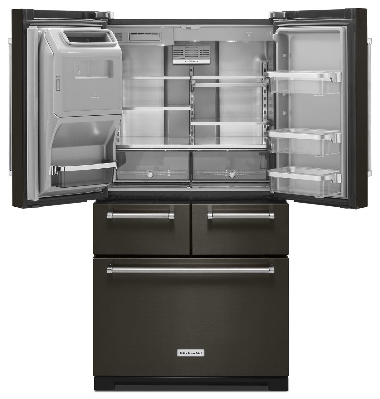 kitchenaid refrigerator black stainless - Kitchen Design
