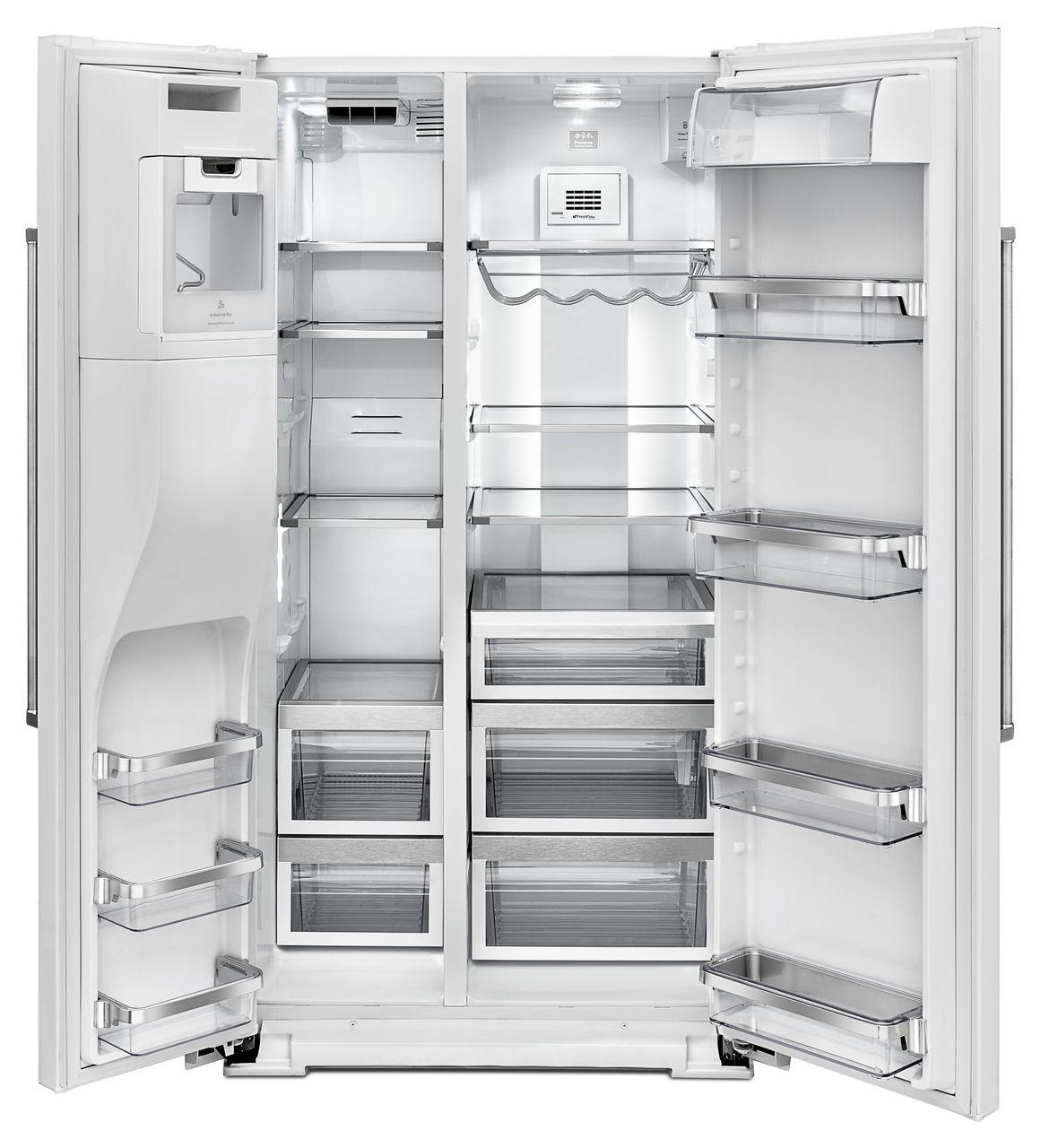 Kitchenaid Refrigerator White kitchenaid white sideside refrigerator - krsf505ewh