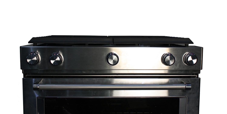 "Kitchenaid Gas Stoves kitchenaid 30"" stainless slide-in gas range - ksgb900ess"