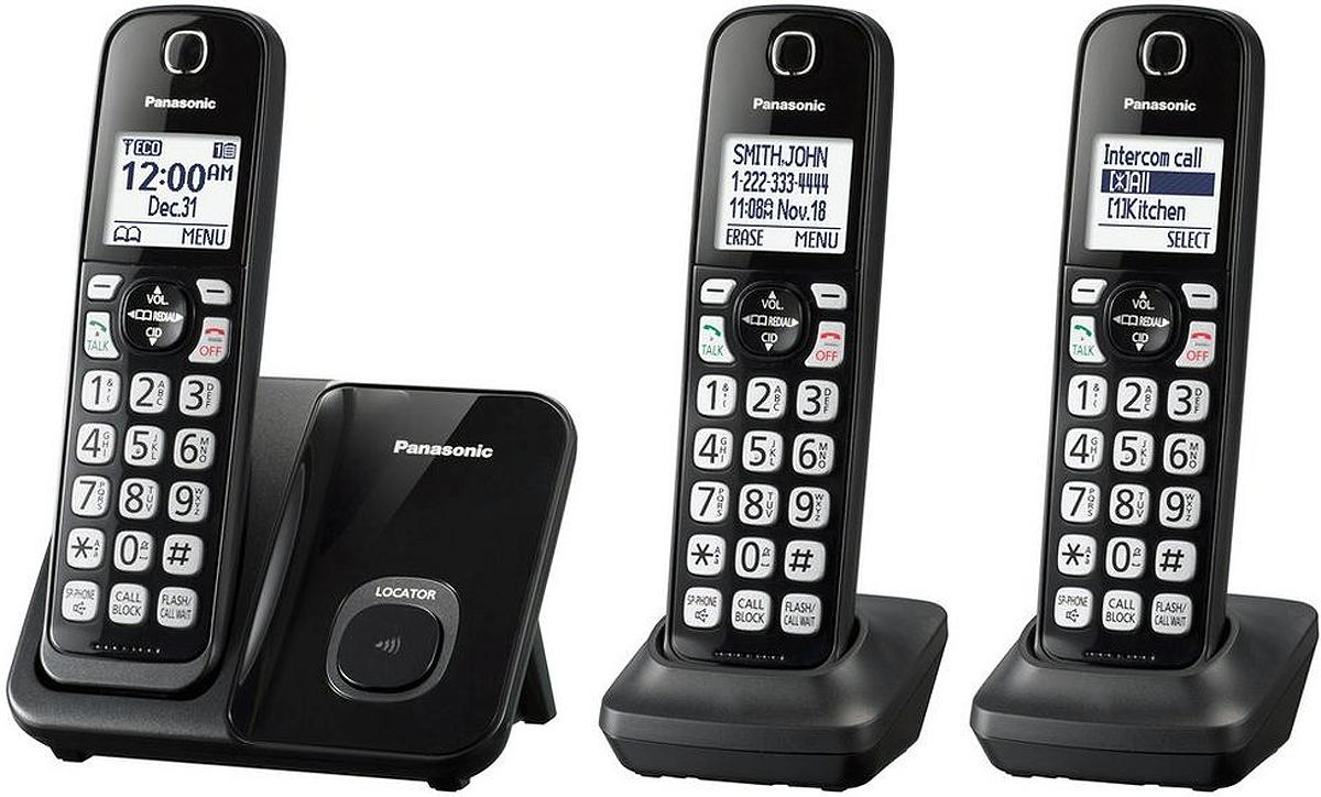 Panasonic Black Expandable Cordless Phone Kx Tgd513b