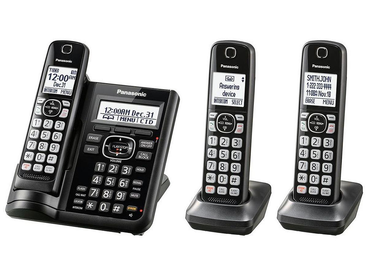 Panasonic Cordless Phone With 3 Handsets Kx Tgf543b
