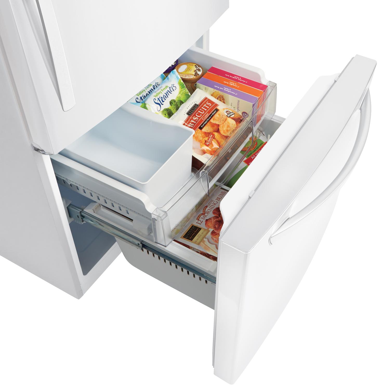 Lg White Bottom Freezer Refrigerator Ldcs24223w