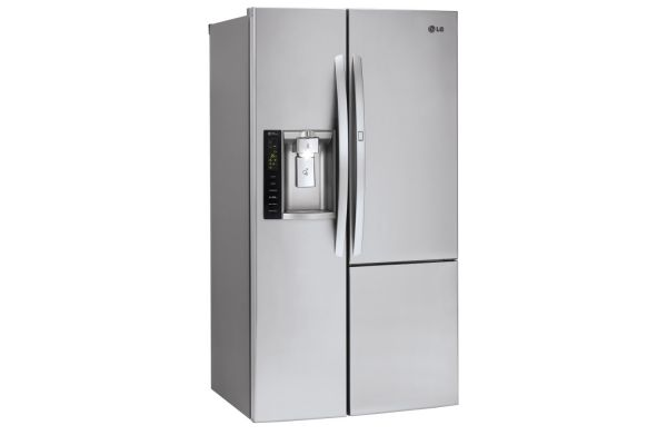 Large image of LG 26 Cu. Ft. Stainless Steel Side-By-Side Refrigerator With Door-In-Door - LSXS26366S