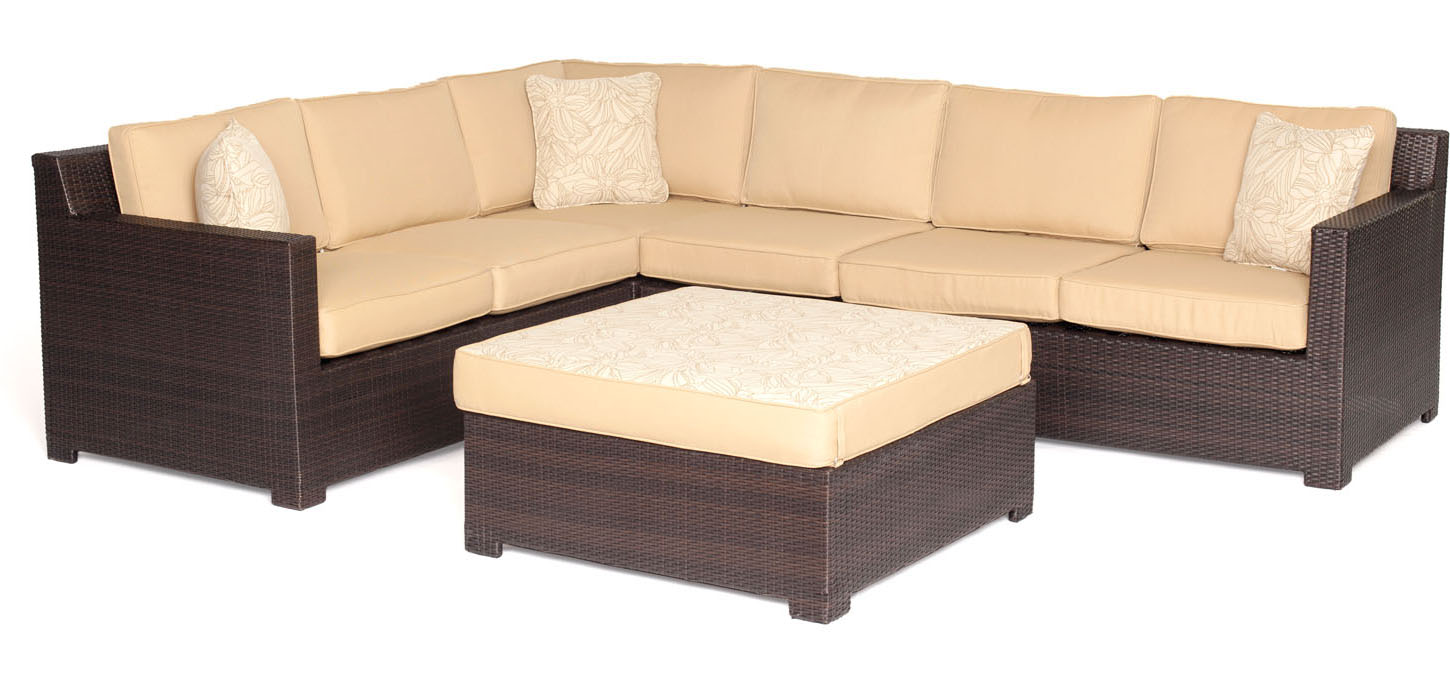 Hanover Metropolitan 8 Piece Lounge Set Metro8pc B Tan
