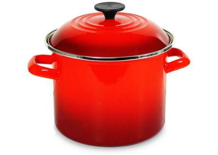 Le Creuset 6 Quarts Cerise Red Stock Pot - N41002067