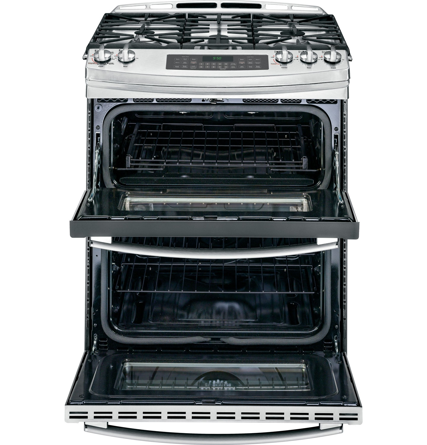 Ge 30 Stainless Double Oven Gas Range Pgs950sefss