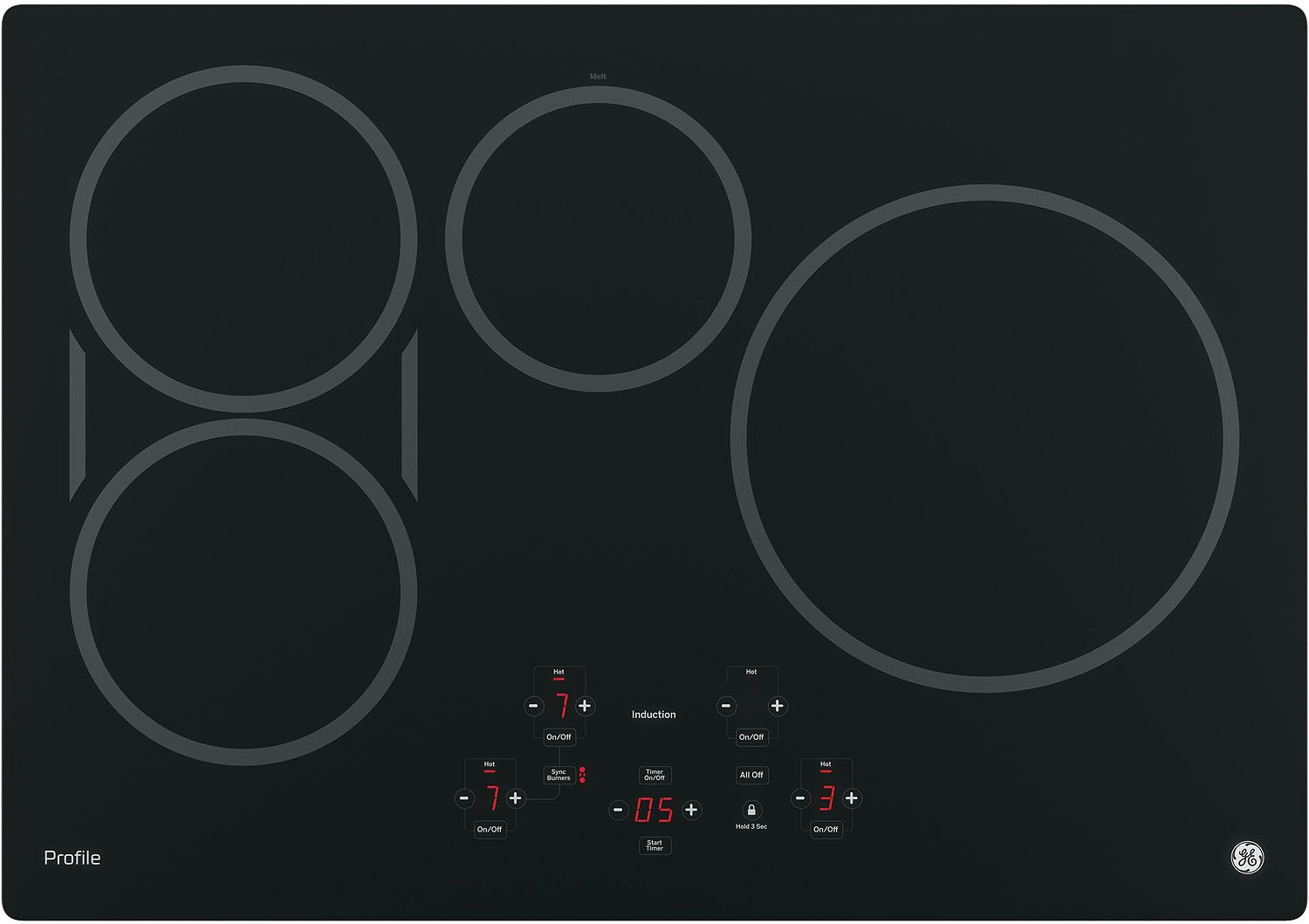 Ge Profile 30 Quot Black Induction Cooktop Php9030djbb